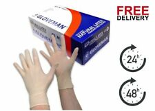 GLOVEMAN Disposable Natural LATEX Powder Free GLOVES 10 100 200 500 1000 *CHEAP*