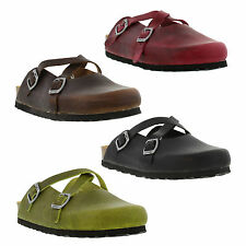 Oxygen London Womens Clogs Sandals Flat Leather Slip On Shoes Sizes UK 4 - 8