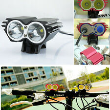 Newest 2x CREE XM-L2 5000LM Front Head LED Bicycle Bike Light Headlamp Headlight