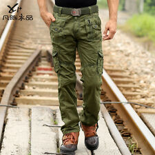 Men's Combat Outdoor Jungle Military Army Cargo Pants Camouflage Trousers Jeans