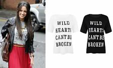 Womens Casual Fit Top Michelle Keegan Wild Hearts Can't Be Broken Print T-Shirt
