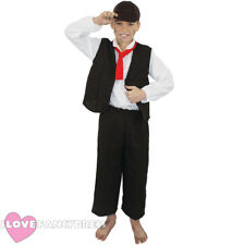 BOYS VICTORIAN COSTUME CHILD'S POOR BOY HISTORIC FANCY DRESS SCHOOL CURRICULUM