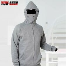 Gray Military Knight Medieval Armor Pullover Armored Hoodie Cotton Jacket Coat