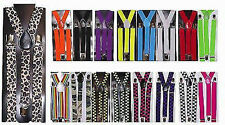 ADJUSTABLE UNISEX MENS LADIES TROUSER SUSPENDERS BRACES CLIP ON FANCY DRESS