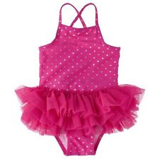 Toddler Girls' Heart Tutu 1-Piece Swimsuit
