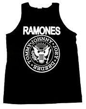 The RAMONES Tank Top T-shirt Punk Rock Classic Logo Adult Mens Black New