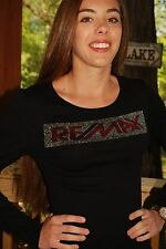 RE/MAX rhinestone  Bling Shirt XS S M L XL XXL 3X 4X 5X rhinestone words RE/MAX