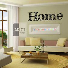 HOME floral vine text - Vinyl Wall Art Sticker, Transfer, Decal