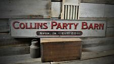 Custom Party Barn Sign - Primitive Rustic Hand Made Vintage Wood Sign ENS1000372