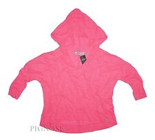 Hollister Summer Women's 3/4 Sleeve Easy Fit Hoodie Pink Shirt By Abercrombie