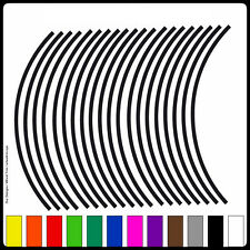 """10""""-13"""" 20 Strips Wheel Stickers Rim Stripe Tape Motorcycle Scooter (12 Colours)"""