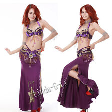 2 Pics New Belly Dance Costume Set  Bra & Belt  US34B 36B 38B US40D 3/2