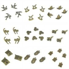Antique Bronze Tone Mixed Style Pattern Charm Pendants connectors beads For DIY
