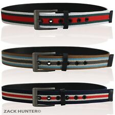 MENS CANVAS BELTS WITH REAL LEATHER BACKING BOYS CANVAS MENS LEATHER BELTS FB001