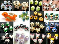5PCS High Quality Lovely Animal Lampwork Glass Beads Fit European Bracelet