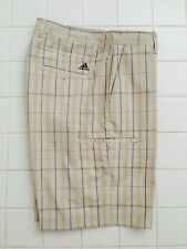 NWT ADIDAS MENS TECH CARGO PLAID GOLD SHORTS Sz. 30  38  P15613