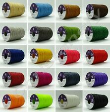 0.8mm 85 Yards-Waxed Ploy/Polyester Cord/ Thread -20 colors-leather work