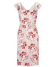 NOUGAT London SS14 Floral Print Cotton Silk Dress Size 3 UK 14 Wedding RRP £189