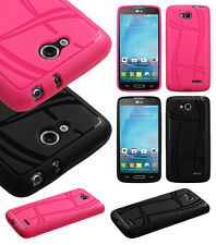T-Mobile LG Optimus L90 Texture Rubber SILICONE Soft Gel Skin Case Phone Cover