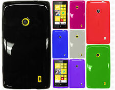 For Nokia Lumia 520 GoPhone TPU CANDY Flexi Gel Crystal Skin Case Cover Glossy