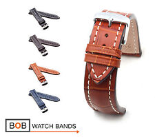 BOB Marino Alligator Watch Band/Strap for Breitling, 20 & 22 mm, 4 colors, new!