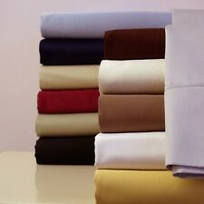 100% Cotton Bed Sheet Set, 300 Thread Count, Sateen Solid Deep Pocket Bed Sheets
