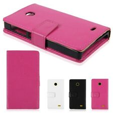 Leather Wallet ID Card Slots Case Stand Cover for Nokia X /A110/RM-980/Normandy