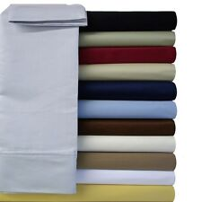 Twin Extra Long Size Sheet Set MicroFiber Solid Super soft Wrinkle Free