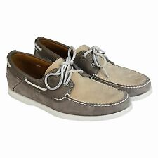 Timberland Mens Earthkeepers Heritage 2-Eye Boat  Grey Casual Dress Shoes