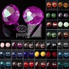 72pcs Rondelle Loose Faceted Czech Crystal Spacer Glass Beads 6.5x8mm Wholesale