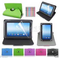 "Rotating Leather Case Cover+Gift For 7"" HP Slate 7 Extreme/Slate 7 HD Tablet GB1"