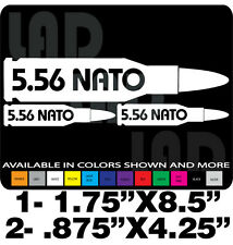 5.56 NATO DECALS AMMO CAN GUN SAFE TOOLBOX RUGER S&W GLOCK SPRINGFIELD TRUCK