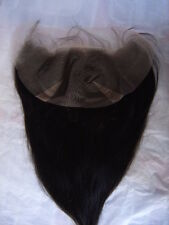 """bangs lace frontal premium human hair 4x13"""" 8-20"""" #1#1b#2 unbranded straight"""