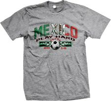 2014 Play Hard Mexico Mexican Colors Soccer Ball World Cup -Mens T-shirt