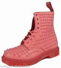 Dr Doc Martens 1460 Pink Leather Ankle boots with Spikes. Ultimate Pink Boots