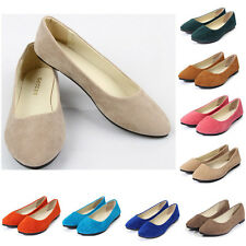 Hot Ladies Ballerina Loafers Flat Women Ballet Dolly Slip-on Pump Slippers Shoes