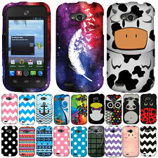 For ZTE Savvy Z750C Polka Dots Snap On HARD Case Cover Accessory