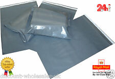 Strong Grey Plastic Mailing Post Poly Postage Bags with Self Seal,ALL SIZES
