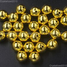 Gold Plated Over Copper Round Beads 4mm 6mm 8mm 10mm 12mm 14mm 16mm Wholesale