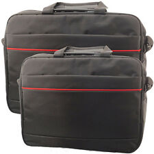 "15"" / 19"" Inch Widescreen Laptop Bag Notebook Carry Case Shoulder Strap Black"
