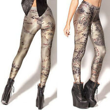 Women's Digital Printed Middle Earth Map Leggings Tights Stretch Pants Trouser