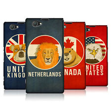HEAD CASE DESIGNS PATRIOTIC ANIMALS CASE COVER FOR SONY XPERIA Z1 COMPACT D5503
