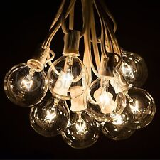 50 Foot Outdoor Globe Party String Lights - Set of 50 G50 Clear Bulbs