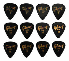 12 Gibson Guitar Picks Plectrums Electric or Acoustic/ Choice Of Gauges