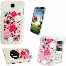 Luxury Flower Princess Bling Pearl Gemstone Diamond Case For Various Mobiles