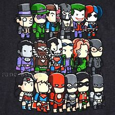 BATMAN JOKER T-SHIRT SCRIBBLENAUGHTS SUPERMAN FLASH DC COMICS TOKIDOKI CHIBI NEW