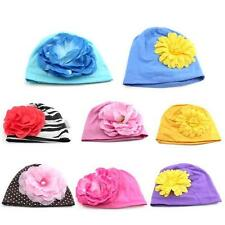 Adorable Baby Girl Boy Toddler Big Flower Hat Knit Cap Beanie Cap Soft Cotton