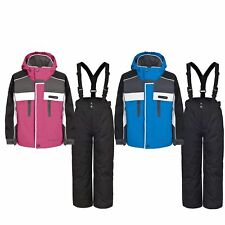 Trespass SUMACO Kids Boys Girls Padded Waterproof Jacket Salopettes Ski Set