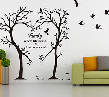 Family Inspirational Love Tree Wall Art Sticker, Wall Sticker Decal HIGH QUALITY