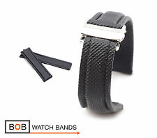 BOB Sportivo Synthetic Deployment Band for Breitling, black, 20, 22, 24 mm, new!